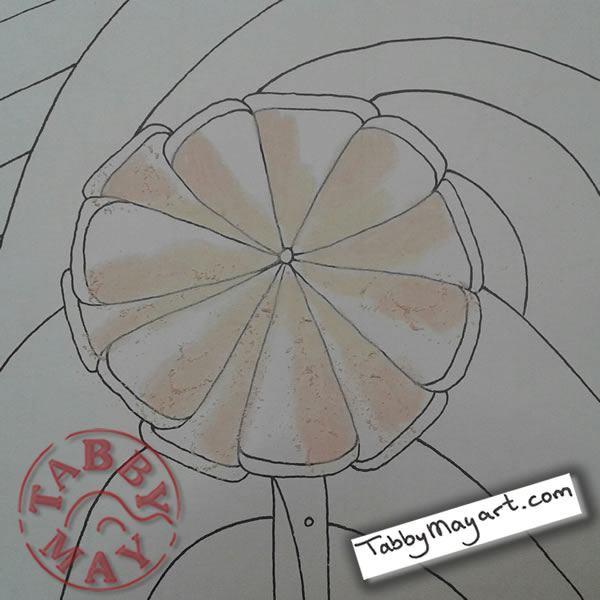 Doodled Blooms w.i.p.