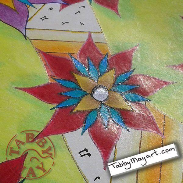 Musica de Euphorbia glitter Doodled Blooms